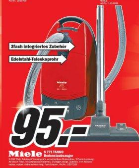 MediaMarkt Heidelberg: Größte Eröffnung des Jahres: Miele S 771 Tango Staubsauger bis Freitag 04.10.2013 für 95€