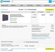 Microsoft Windows 8 Pro Upgrade für 37,74€
