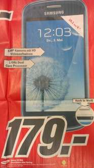 Samsung Galaxy S3 mini für 179 Euro / Mediamarkt in Hamburg