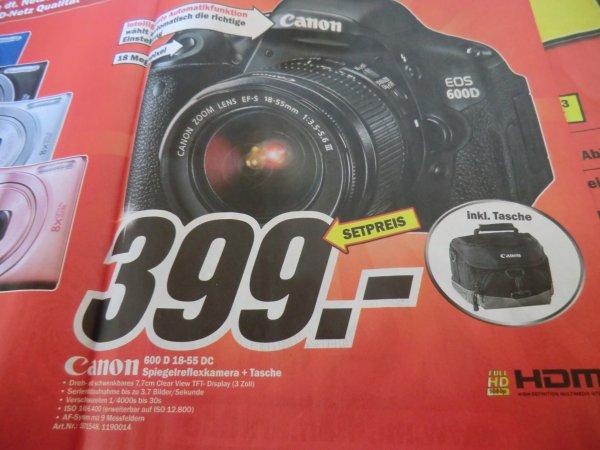 Lokal Köln: Canon Eos 600 D 18-55 DC + Canon Tasche / Skyfall Blu Ray 7 Euro
