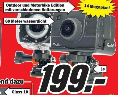 [Lokal?] Rollei Actioncam 5S WiFi! Motorbike und Outdoor- Edition im MediaMarkt Schwäbisch Gmünd 199€
