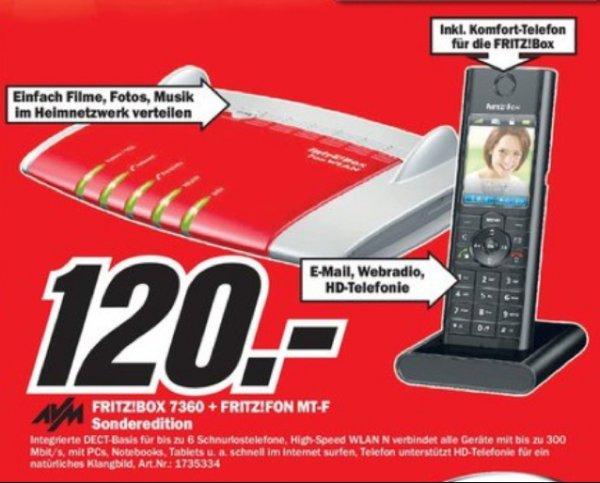 (Lokal?) Mediamarkt Berlin und Brandenburg z.B. Fritzbox 7360 inkl. Fon MT-F nur 120€