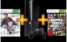MICROSOFT Xbox 360 250GB inkl. FIFA 14 & GTA 5