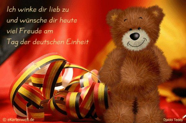 Grußkarten zum Tag der Deutschen Einheit - 3. Oktober @ekartenwelt.de