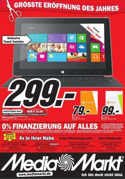 [Lokal] [MediaMarkt München] Microsoft Surface RT (32GB) inkl. Touch Cover für 299 €