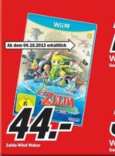 [Lokal] The Legend of Zelda - The Wind Waker HD für WiiU ab 44€ in einigen Media Märkten