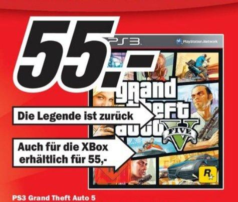 [Lokal Kaiserslautern] GTA 5 für PS3 oder Xbox360 für 55€ im Media Markt