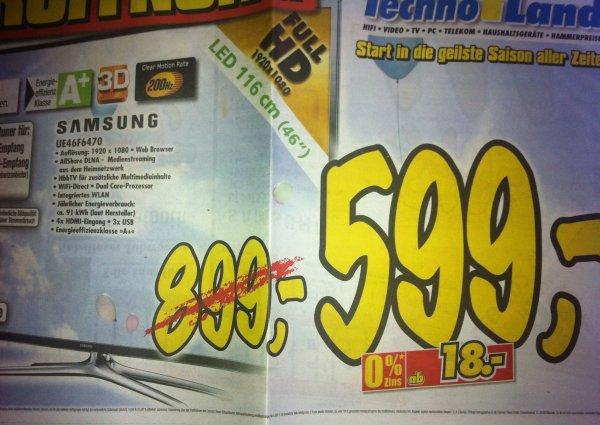 [LOKAL?] Expert // Samsung UE46F6470 LED-TV inkl. 2x 3D-Brille (evtl. auch Bundesweit)!