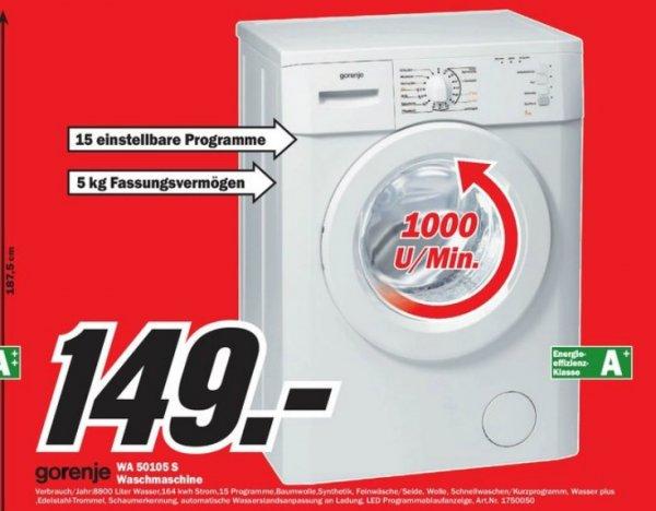 Media Markt in mehreren Filialen. Gorenje 50105 Waschvollautomat. Ab 149.-