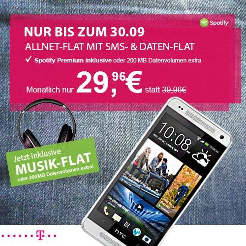 Telekom Copmplete Comfort M Junge Leute 29,96€/Monat + HTC One Mini -> effektiv 15,83€/Monat
