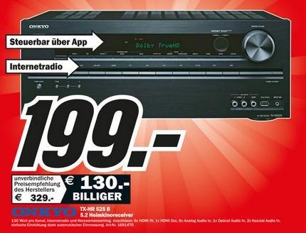 [Media Markt Dortmund] Onkyo TX-NR525 - 5.2 Reciever 130W - 199€ (evtl. Versand für 5€)