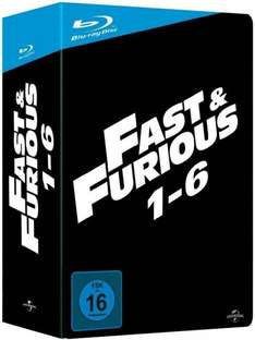 Fast & Fu­rio­us 1-6 (Blu-ray Box) FSK 16 für 37€ @Digitalo