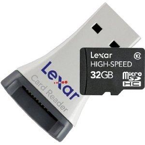 Media-Markt (Online): LEXAR micro SDHC 32 GB Class 10, inkl. Kartenleser + versandkostenfrei nur 15 Euro
