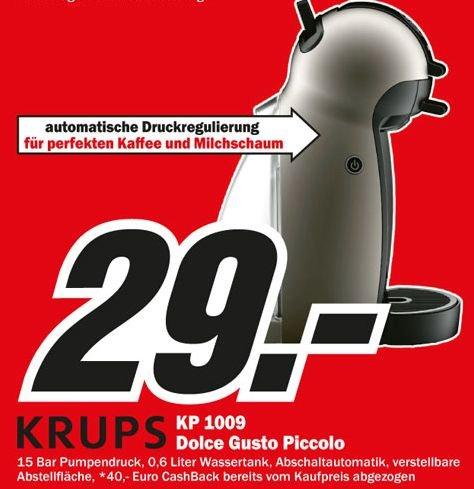 "Krups™ - Dolce Gusto Kaffeemaschine ""KP1009"" für €29.- [@Media-Markt Kiel]"