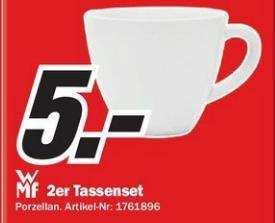 WMF Porzellan-Tassenset bei Media Markt auf 5€ reduziert