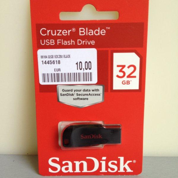 (Lokal?) Mediamarkt Potsdam - 32GB SanDisk Cruzer Blade USB-Stick für 10€
