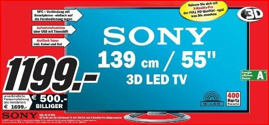 Sony KDL-55W805 im MM Raum Rhein-Neckar