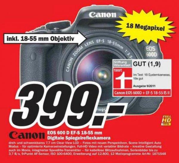 [MM Raum Stuttgart] Canon EOS 600D - EF-S 18-55 DC III Kit