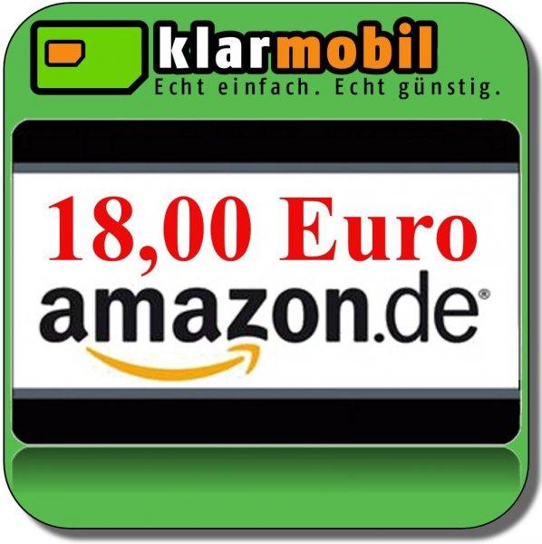 Wieder verfügbar: Klarmobil +18€ Amazon Gutschein