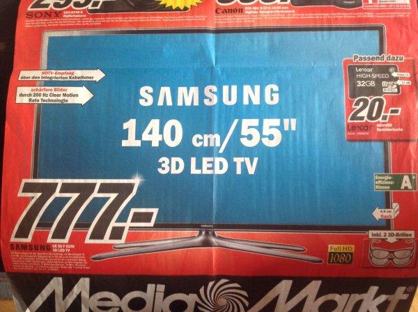 "[ Lokal MM Heilbronn ] Samsung 55"" 3D-LED-TV UE55F6100 (EEK A+, 200Hz CMR, 140cm, Full-HD) für 777€"