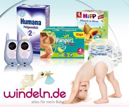 15 statt 30 Euro für Windeln, Babynahrung, Babypflege & mehr