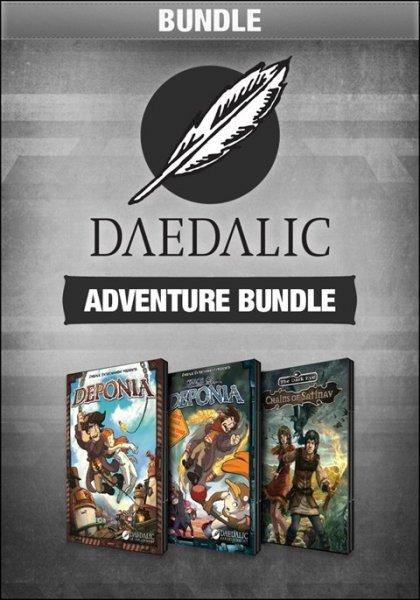 Daedalic Adventure Bundle mit Deponia, Chaos auf Deponia und Das Schwarze Auge: Satinavs Ketten [Steam] für 11,34 €