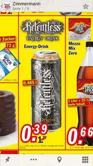 [Zimmermann] Relentless Energy Drink für 0, 39€