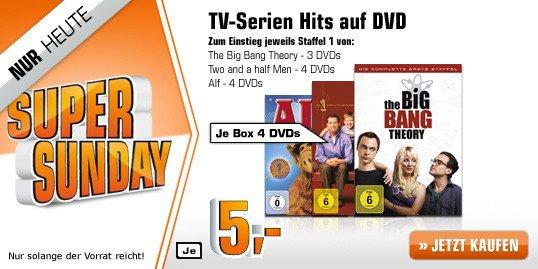 [DVD] Big Bang Theory, Alf oder Two and a Half Man Staffel 1 @ Saturn.de ab je 5,00 EUR (bzw. alle 3 Titel mit Code 3fuer24 für insgesamt 9,03 EUR)