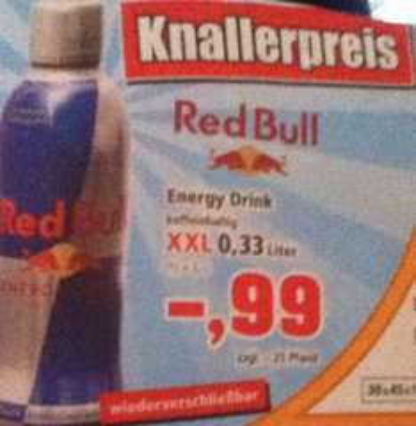 Knallerpreis! Red Bull 0,33l für 0,99€ zggl.- 0,25 Pfand