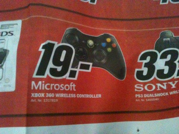 [Lokal MM Bruchsal] MICROSOFT Xbox 360 Wireless Controller für 19€