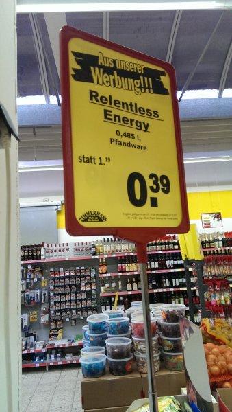 [ZIMMERMANN LOKAL NORDDEUTSCHLAND]Relentless Energy Für 0,39€ + 0,25€ Pfand