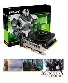 PNY Geforce GTX 650Ti NVIDIA Grafikkarte (1GB, GDDR5, PCI-Ex16) mit Assassins Creed 3