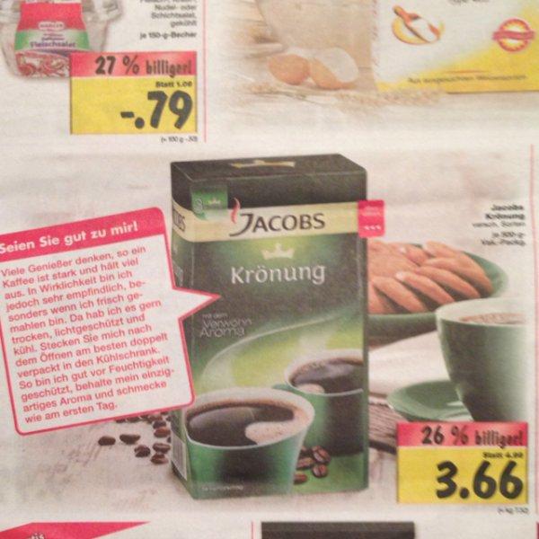 [lokal - evtl bundesweit @ kaufland] jacobs Krönung Filterkaffee verschiedene Sorten je 500g Packung