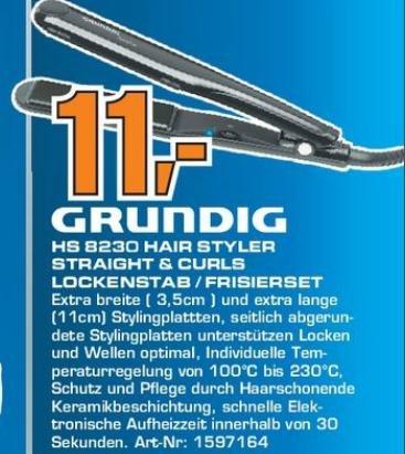 Lokales Angebot: Grundig Hairstyler (Glätteisen&Lockenstab) auf 11€ reduziert