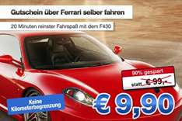 Ferrari selbser fahren (20 min im F430)