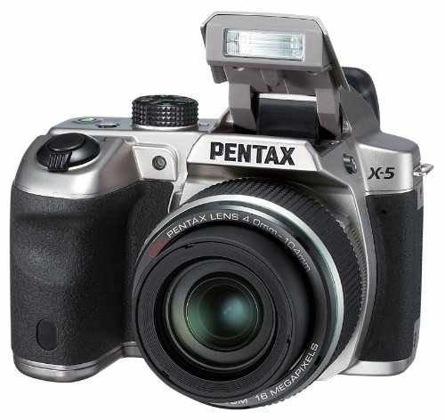 Pentax X-5 All-in-One Digitalkamera (16 Megapixel, 26-fach opt. Zoom, 7,6 cm (3 Zoll) Display, Full HD) silber für 165€ @Amazon.uk