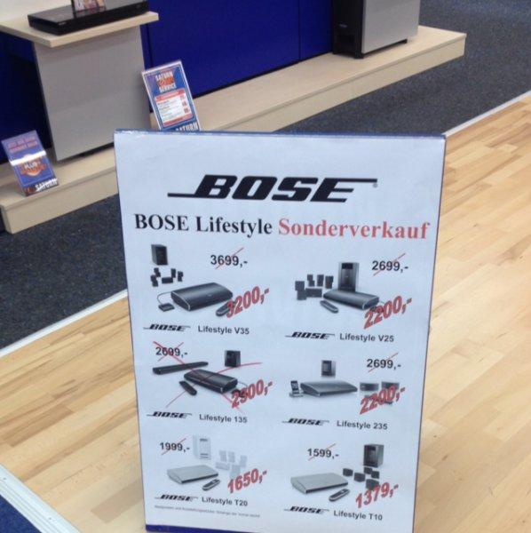 [Lokal Saturn Moers] Bose Sonderverkauf u.a. Bose Lifestyle V25 für 2200€