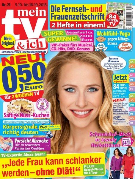 """""""mein tv und ich"""" senkt Preis vom 0,90€ auf 0,50€ Erscheinungsweise:14-täglich an jedem gutsortierten Kiosk"""