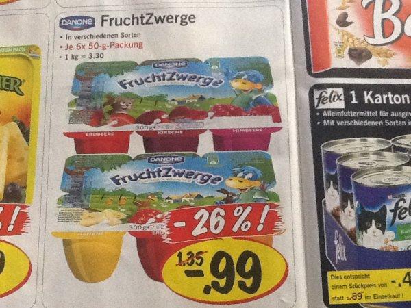 (Offline+bundesweit) Fruchtzwerge 6er-Pack @Lidl