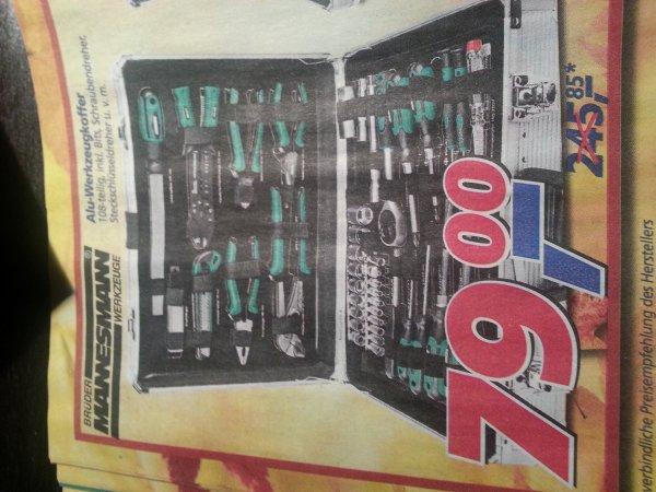 Brüder Mannesmann Alu-Werkzeugkoffer 108-teilig @Real für 79,00€