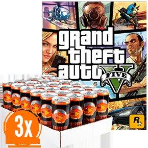 72 Dosen Raubtierbrause + Game GTA V* für 85€ inkl. Versand