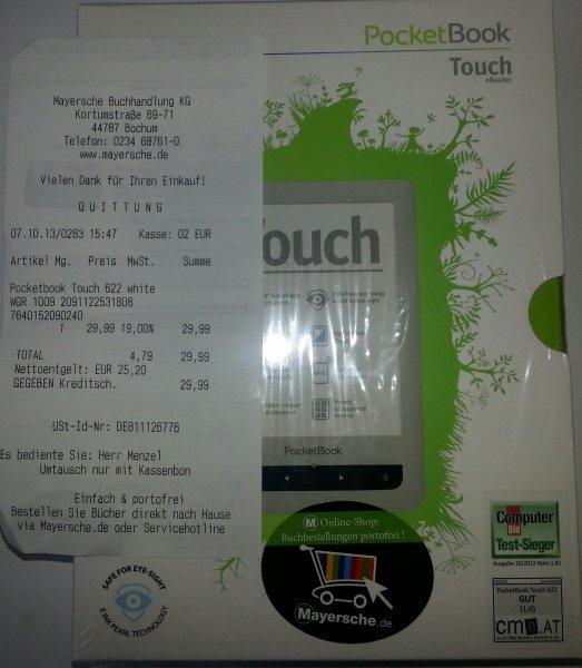 Pocketbook Touch 622, weiß bei Mayersche in Bochum für 29,90 Euro