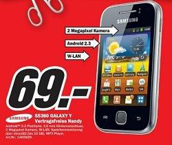 [Lokales Angebot!!!] Samsung S5360 Galaxy Y auf 69€ reduziert!!