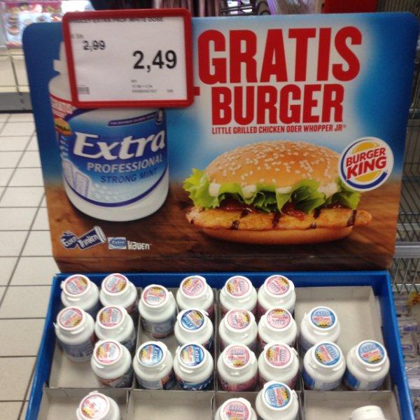 Wrigleys extras + Gratis Burger
