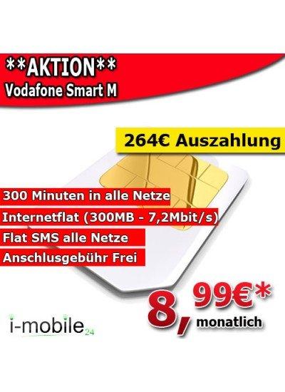 Vodafone Smart M für nur 8,99€ monatlich durch Auszahlung