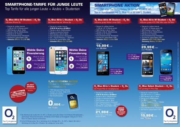 Für Studenten: Lokal Bochum CampusCenter Handy Shop 1GB O2 Datenflat geschenkt
