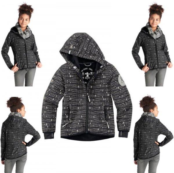 XS EXES® Softshelljacke Softshell Jacke mit Kapuze Gr. 116 - 182 | 19,99€ statt 77,99€