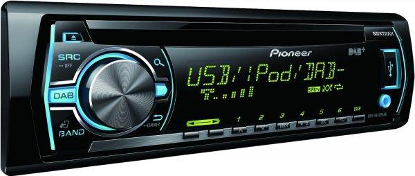 Pioneer DEH-X6500DAB CD-Tuner (Integrierter Digitalradio-Empfänger, RGB, Front-USB, Front AUX-IN,i-Pod/i-Phone-Steuerung) für 94€ @Amazon
