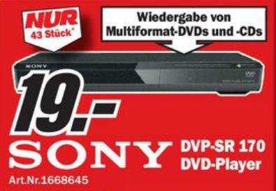 [Lokales Angebot] Sony DVD-Player auf 19€ reduziert