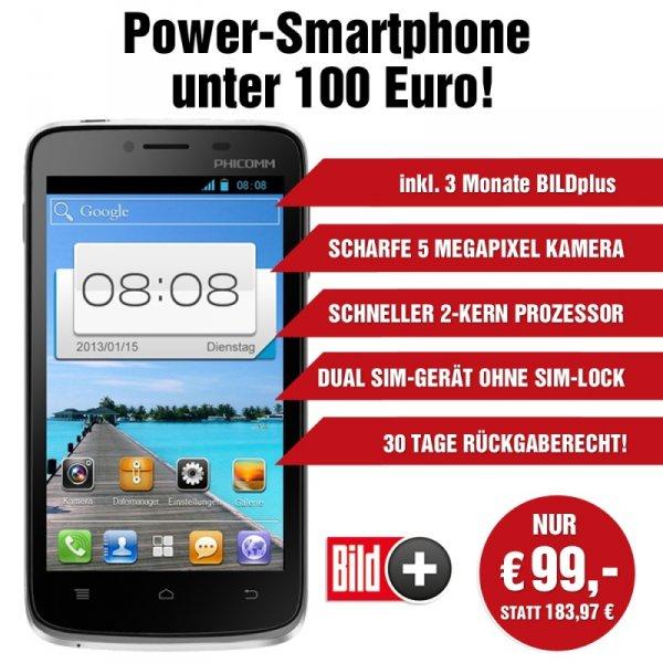 PHICOMM i 600 Smartphone inkl. BILDplus Digital 3 Monate